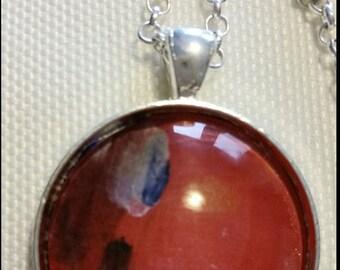 Red Artwork Necklace