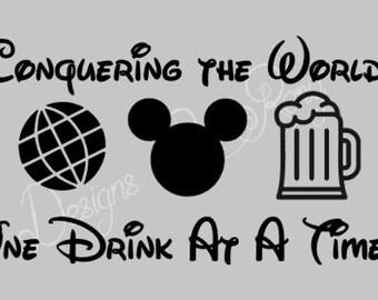 Sale! Disney Drinking Shirts-Decals
