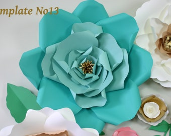 Paper Flower Template – Instant Download PDF – Paper Flower PDF – DIY Floral Wedding Décor