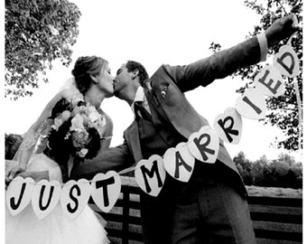 Just married photo booth wedding photo booth wedding decorations wedding party decorations wedding banners picture booth props