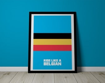 Ride like a Belgian Cycling Print - Typography - Cyclocross
