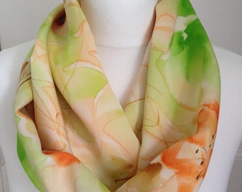 Silk scarf in Spring colours