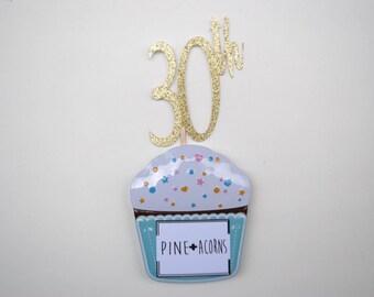 30th Anniversary Cake Topper