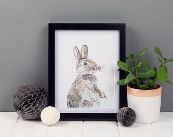Mavis the Bunny Art Print, A5 Art Print, Animal Art Print