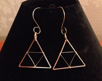 Legend of Zelda Jewelry Triforce Earrings