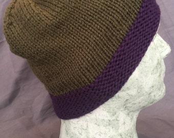 Purple trimed beanie