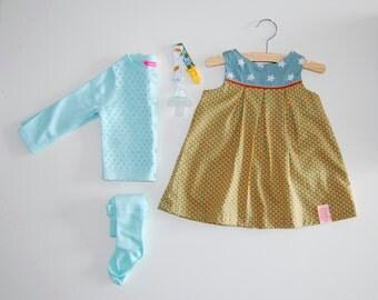SALE Baby dress, 4-6 months, Little girls dress, Retro dress
