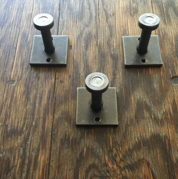metal industrial modern wall mount coat hooks