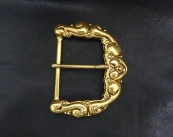 Vintage Antique Gold Buckles, Vintage Antique Nickle Buckles, Ornate Buckles, End Bar Belt Buckle