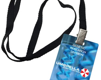 Umbrella Corporation Genetic Research Resident Evil Novelty ID Badge Prop Costume