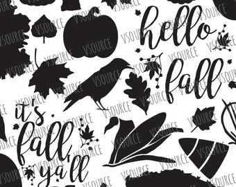 Fall SVG | Fall SVG Bundle | Fall SVG Files - Fall Clip Art Multiple Downloads - Dxf Cut Files, Svg Cut Files, Ai, Eps, Png