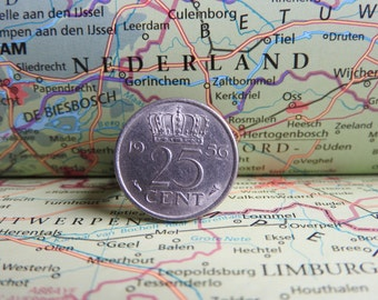 Netherlands Dutch coin ring quarter / kwartje birth year 1970 - 1971 - 1972 - 1973 - 1974 - 1975 - 1976 - 1977 - 1978 - 1979 - 1980