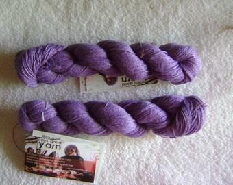 Darn Good Yarn Sport Weight Linen 2-Ply Yarn 2 Skeins Lilac