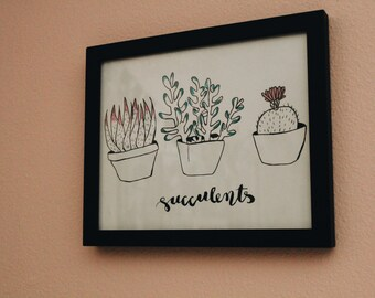 Succulents- Art Print/Graphic/illustration
