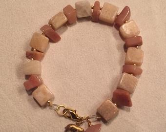 Peach/Pink chunk bracelet