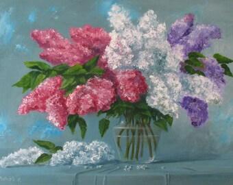 Lilac, Originabild, oil on canvas, 50x70cm