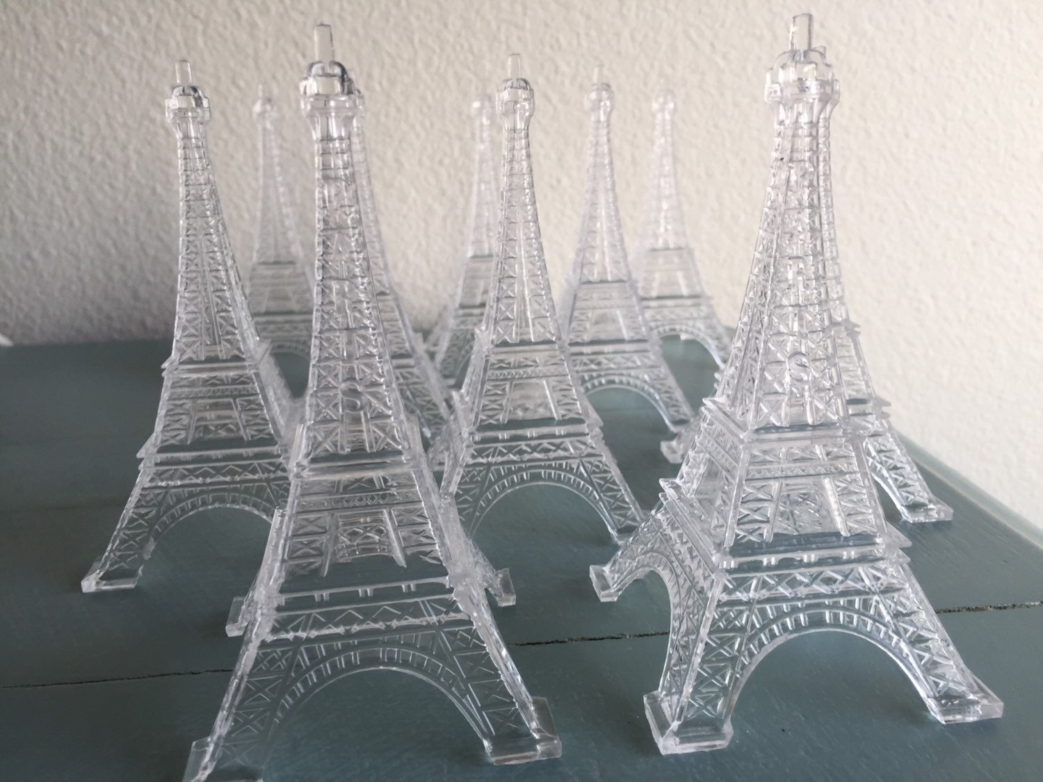10 Clear Plastic Eiffel Tower Display Party Favor Decoration