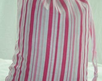 Candy Stripe Drawstring Bags with matching Drawstring. Size 25cm x 35cm