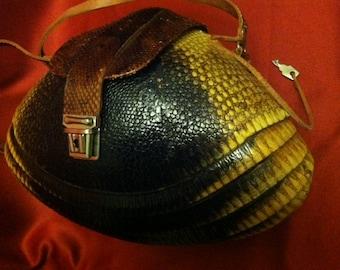 Genuine and Rare Vintage Armadillo Purse