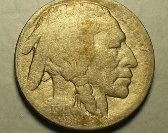 1914-D Buffalo Nickel Fine Condition FREE SHIPPING