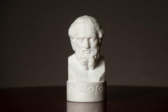 buste en marbre d 39 h rodote sculpt sculpture de. Black Bedroom Furniture Sets. Home Design Ideas
