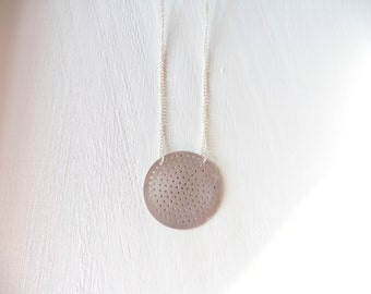 necklace made with Mocha coffee