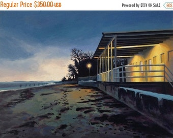 FEBRUARY SALE Oil Painting of West Beach in Beverly Farms MA - Original Fine Art