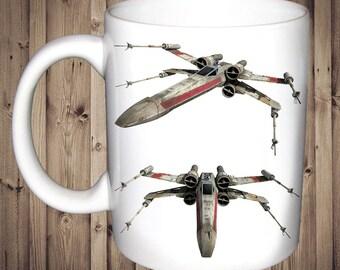 Star Wars X Wing Fighter Mug Birthday Christmas Gift Present Tea Cup