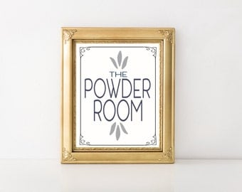Powder Room Instant Printable Wall Art