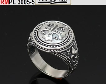 Ring fleur de lis byzantine style  (RMPL 3005-5) for black