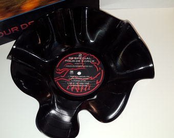 38 Special Tour De Force Recycled Vinyl Record Bowl