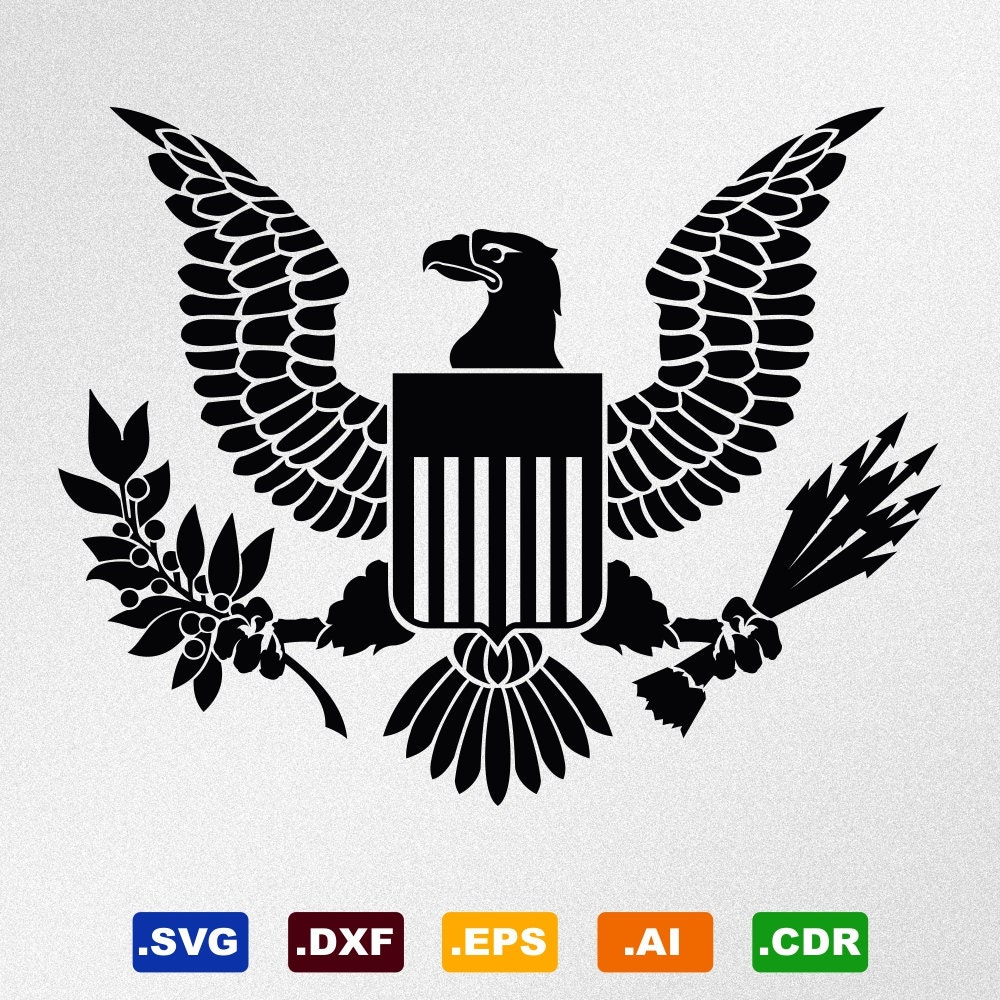 American Eagle Great Seal Symbol Emblem Coat Of Arms Svg