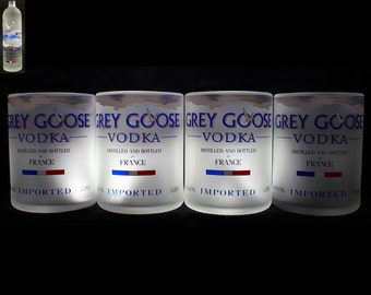 Set of 4 Grey Goose Premium Rocks Glasses