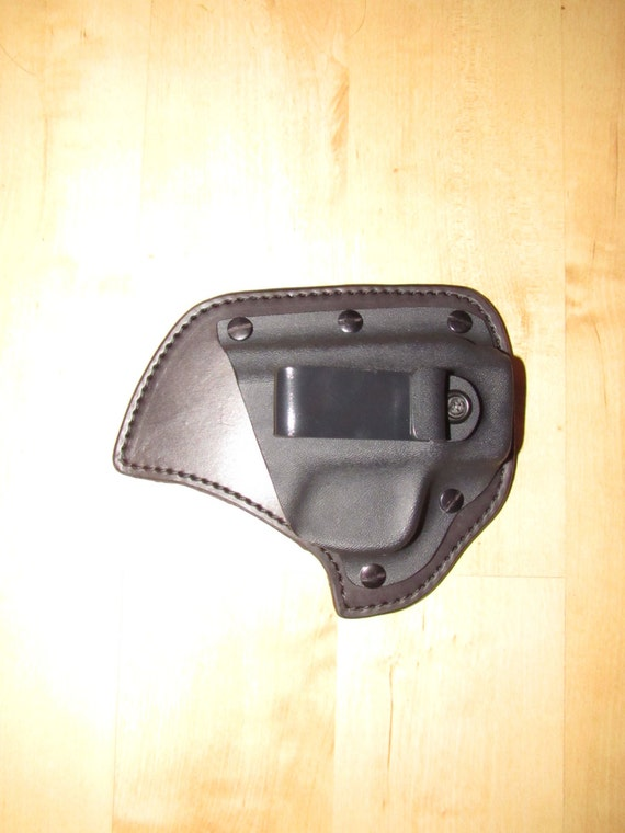 Leather and Kydex Holster, Deer Hide, Hybrid Holster, S&W Shield Hybrid lined with deer hide backing for comfort, EDC, IWB