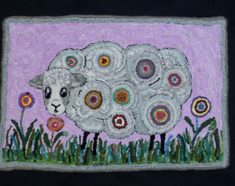Ewe R What Ewe Eat Rug Hooking Pattern