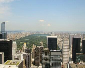 Central Park- New York City Skyline