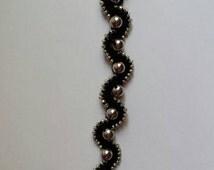 Handmade bracelet with beads/ Macrame jewelry