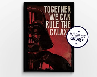 Star Wars : Darth Vader Typography Quote Poster Print