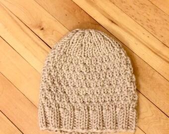 MARGRETHE / Cozy Seed Stitch Knit Hat