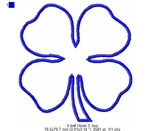 Clover Machine Embroidery Design