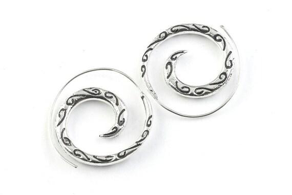 Spiral Serpent Earrings, Boho Jewelry, Tribal Earrings,  Festival Earrings, Gypsy Earrings, Ethnic Earrings, Hippie Jewelry