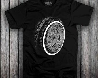 "Lowrider 13"" Knockoff Wire Wheel T Shirt"