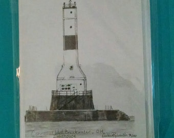 Conneaut Lighthouse, OH Note card Set of 5
