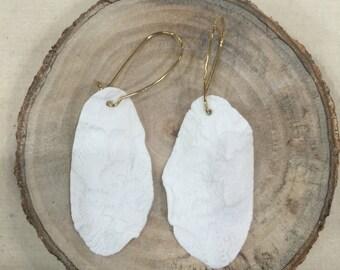 Handmade Lace Porcelain Ceramics Earrings