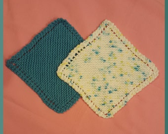 Blue and Variegated Dish Cloths