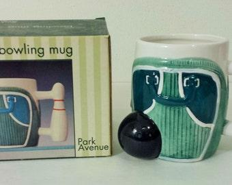 Vintage bowling mug