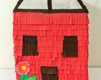 Cute Red House pinata