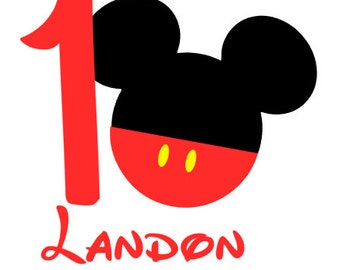 Mickey Inspired Birthday Shirt