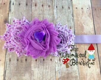 purple sweetheart  headband