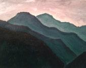 Original Acrylic Landscape Painting, Acrylic Painting Original,Mountain Rhodope